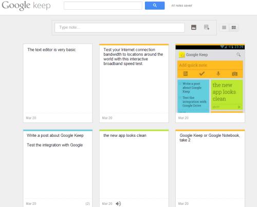 funcionamiento google keep