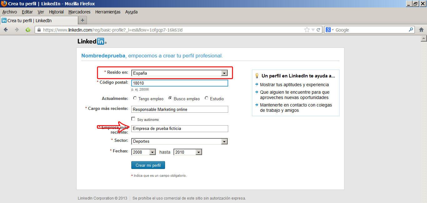 crear perfil en linkedin 3