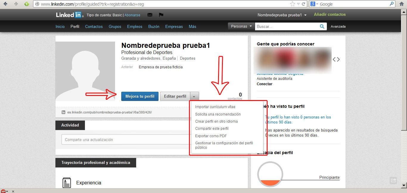 crear perfil en linkedin 7