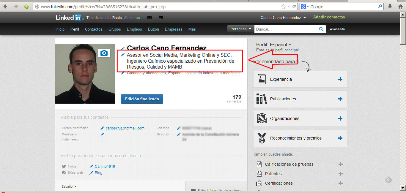 optimizar perfil en linkedin 1
