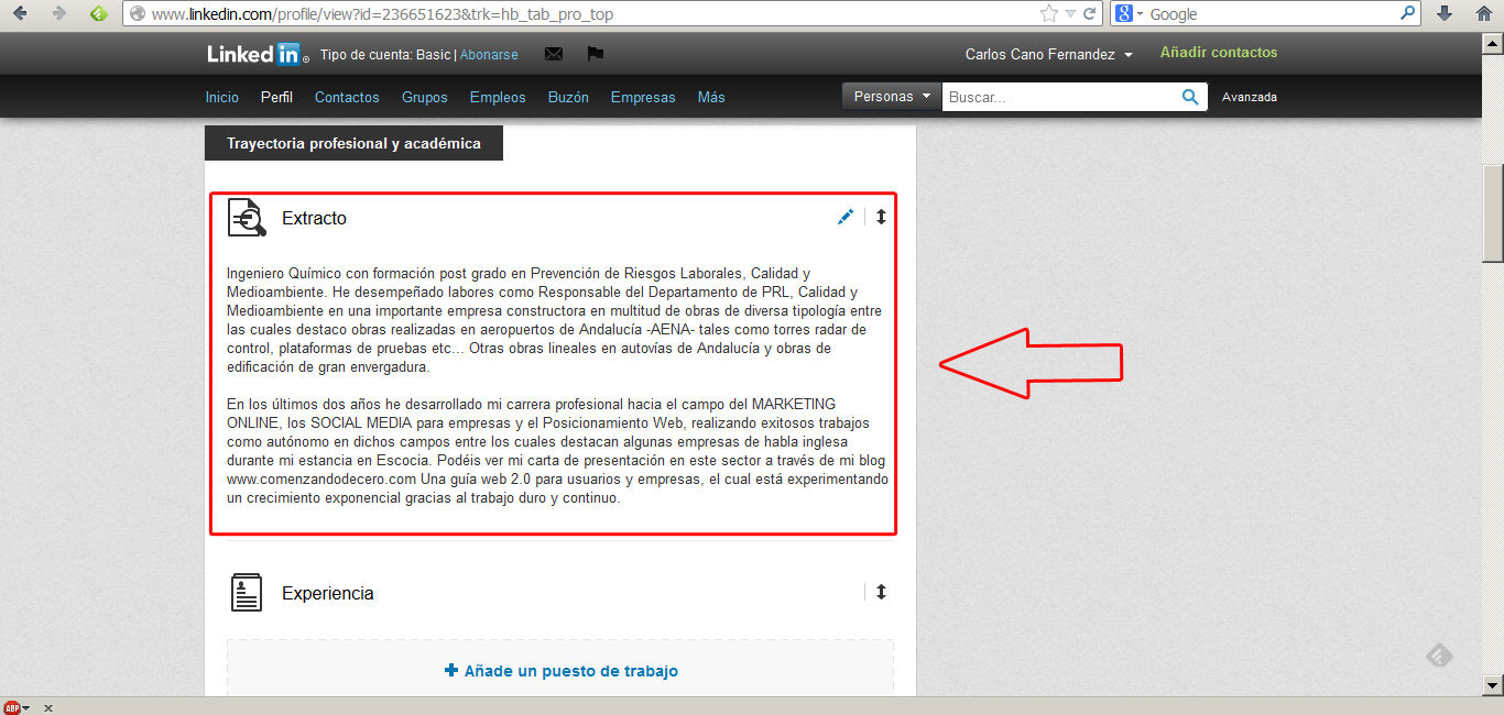optimizar perfil en linkedin 2