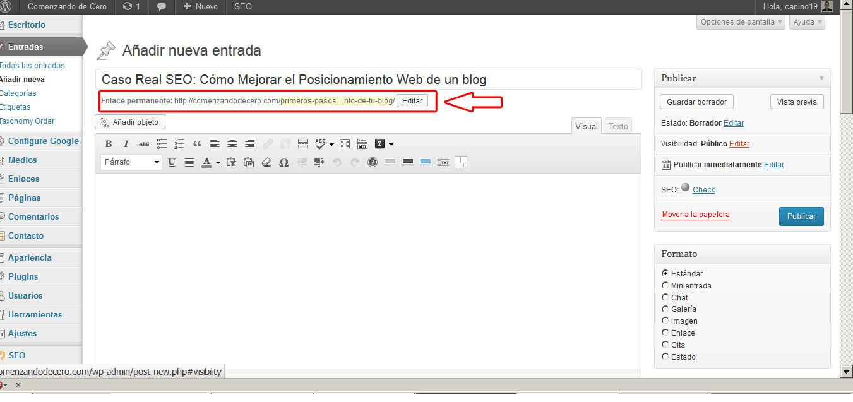 como mejorar el posicionamiento web seo de un blog 3