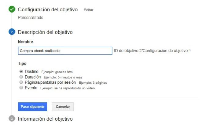 Google Analytics embudos